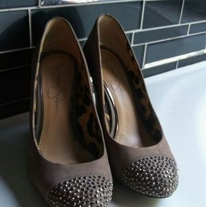 Jessica Simpson Size 7 Wedge Heels with Stones